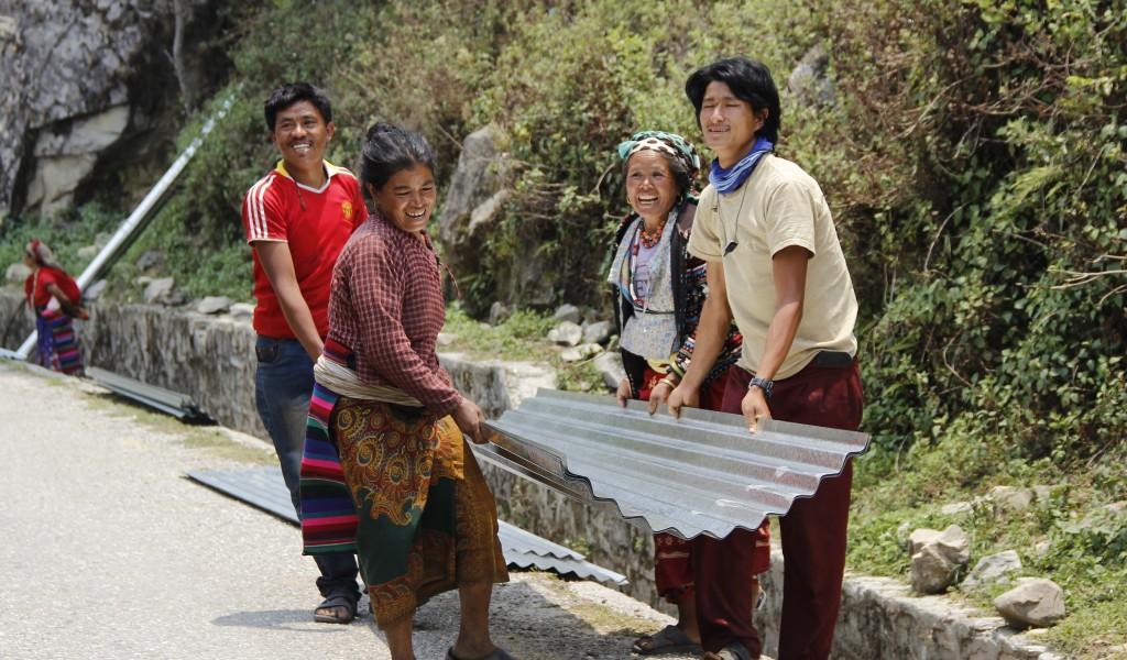 Nepal noodhulp na de aardbeving
